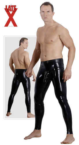 Latex - Herren-Latex-Slip mit Analplug