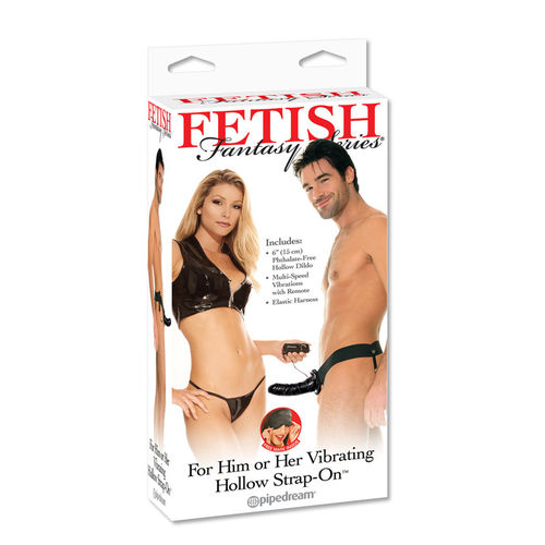 Vibrating Strap-On Black