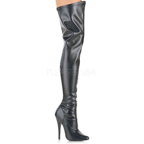 Devious - Domina 3000 Overknees Black