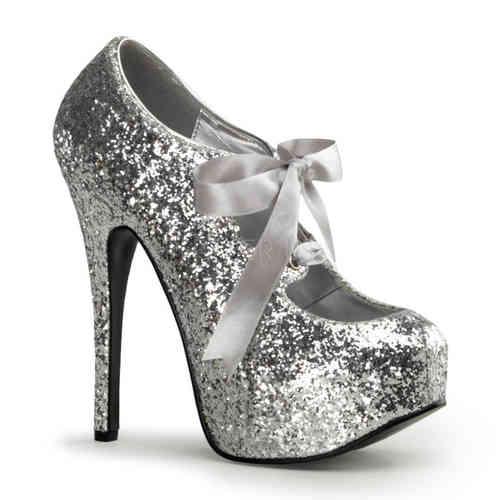Bordello - Teeze 10G High Heels Silver