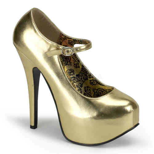 Bordello - Teeze 07 High Heels Gold