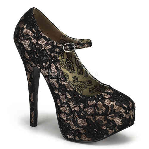 Bordello - Teeze 07L High Heels Black