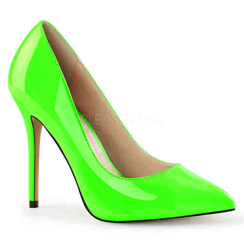 Pleaser - Amuse 20 Pumps Green