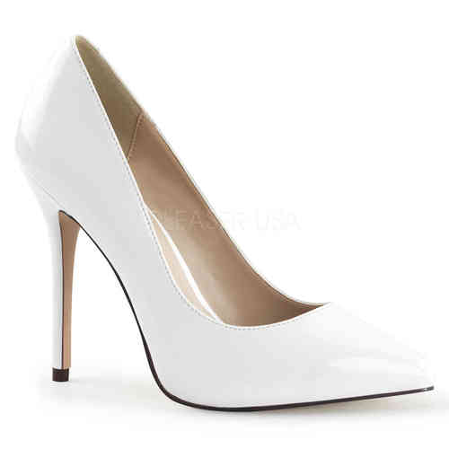Pleaser - Amuse 20 Pumps White