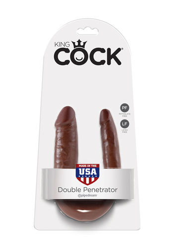 Cock Double Trouble Brown Small